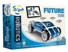 Gigo #7392 science toys 219pcs to assemble 8 vehicles models Future Car Toys Using smart devices to play Model Building Kits toy