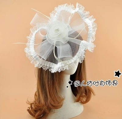 Lace Feather Bridal Hats Cheap Modest 2016 Wedding Hat Veils New Arrive Hot Sale Fashion Free Shipping Chapeau Femme