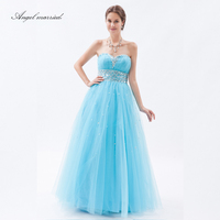 Ангел женат элегантные вечерние платья для любимой выпускного вечера платья Кристальный тюль синий для женщин Формальное вечернее платье