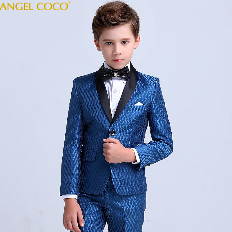 High-end Custom Suit For Boy Single Breasted Boys Suits For Weddings Costume Enfant Garcon Mariage Boys Blazer Jogging Garcon color block splicing single breasted plus size thicken blazer page 2