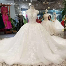 CHANVENUEL LSS113 pure wedding dresses cap sleeves gowns