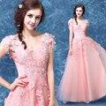 Светло-розовый горный хрусталь бисером аппликация вышивка платье средневековой сисси принцесса Средневековый Платье Ренессанс Викторианской Belle бал