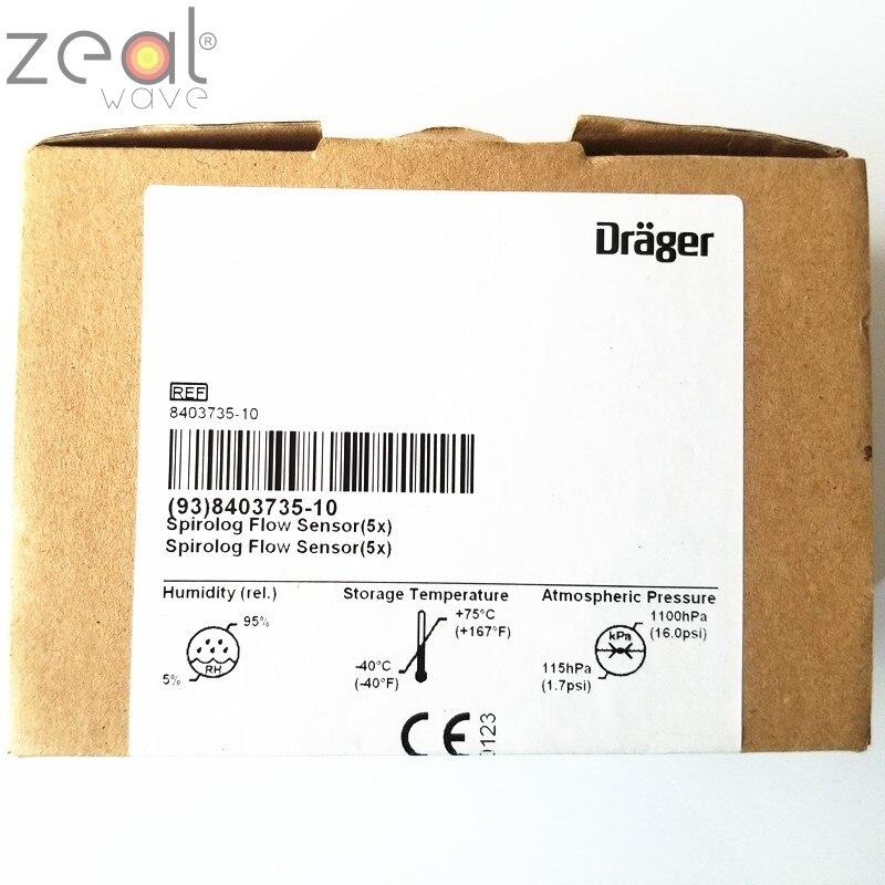 5pcs /pack FOR Drager Spirolog Flow Sensor,8403735 8403735-10 FOR  Evita Ventilator ABS Material,Original And New