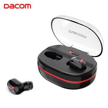 DACOM K6H TWS Handsfree Air Buds Fone de Ouvido Mini Fone de Ouvido Bluetooth Estéreo de Alta Fidelidade Fones de Ouvido Fone de Ouvido Fone De Ouvido Sem Fio para iOS Android