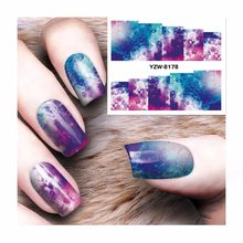 YWK 1 Sheet 2019 New Water Transfer Sticker Nail Art Decals Full Wraps Nails Temporary Tattoos Watermark Sticker For Women #8178(China)