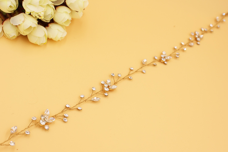 SLBRIDAL Vintage Kristal të Qarta, Të Qarta, Dasma, Flokë Martese, - Bizhuteri të modës - Foto 6