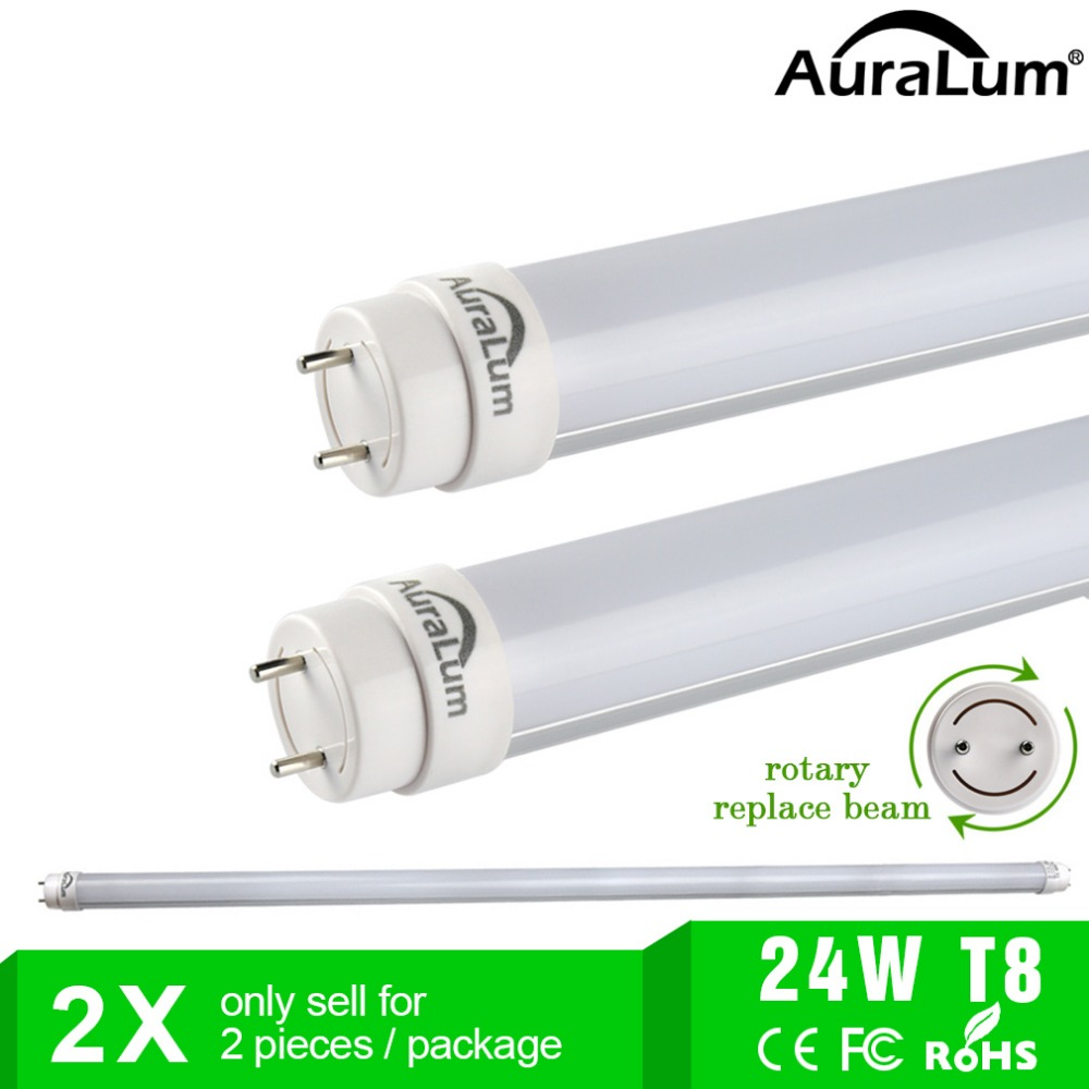 2pcs 1500mm Led Tubes T8 Fluorescent Lamp 24w 2500lm 6000 6500k Cool Lights Starter White With In Bulbs From Lighting On