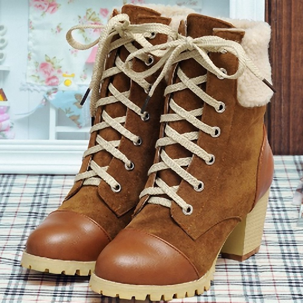New Fashion Ankle Boots High Qulity Lady Ladies Black Red Brown Yellow Women's - Savvy shoes store