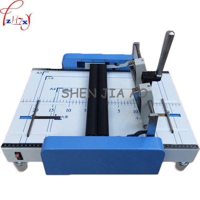 electric folding machine electric paper creasing machine card folding machines color pages dashed machine  220V/110V 1PC