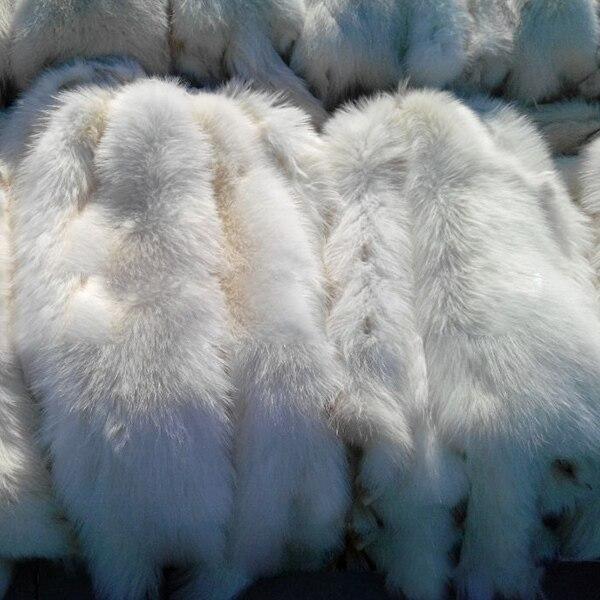 Peau de fourrure de raton laveur blanc peau de fourrure de raton laveur réelle - 3