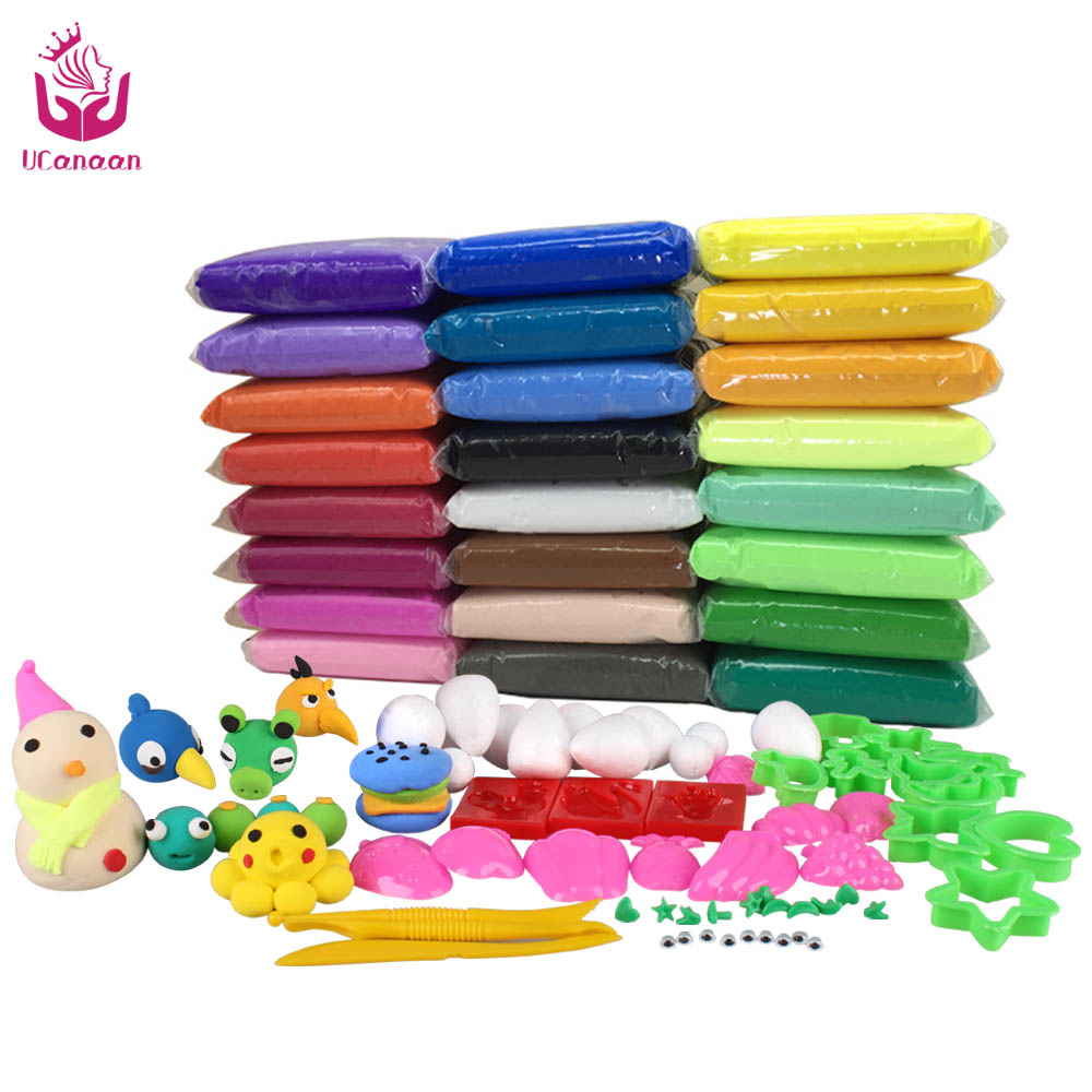 trixiemodel!!! @@@ 1 24colors DIY Soft Polymer Modelling Clay set with tools Air-dried good  package FIMO Effect Blocks Special Toys Gift for Children