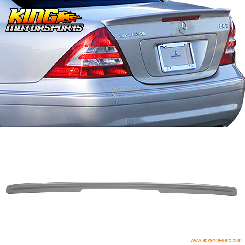Fits 01-07 Benz C-Class <font><b>W203</b></font> AMG Style Trunk <font><b>Spoiler</b></font> Painted #744 ABS image
