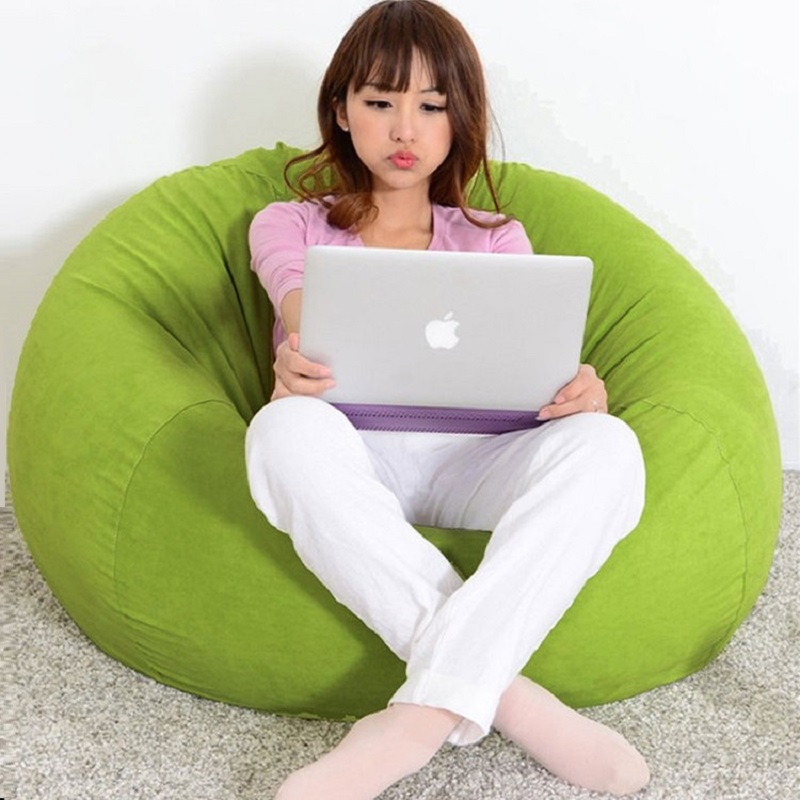Soft sofa chair flocking inflatable sofa bed living room furniture inflatable furniture bean bag lazy sofa for 80*80