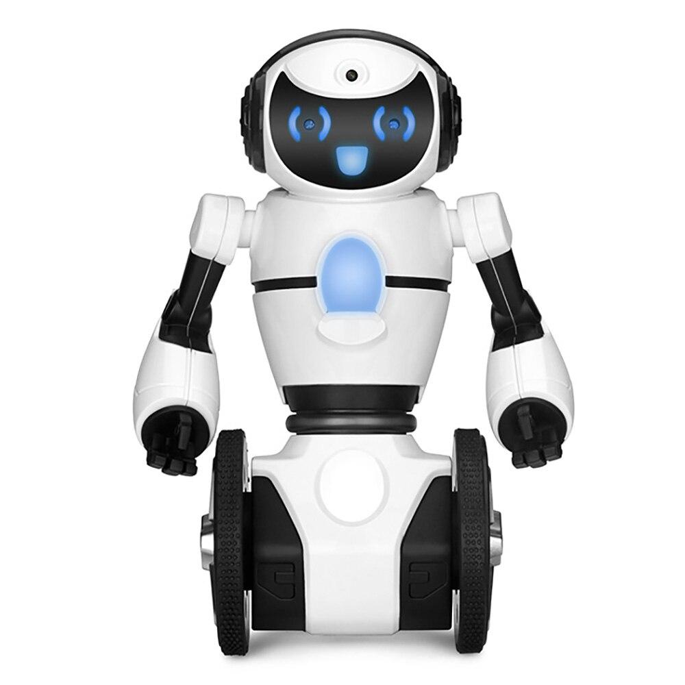 WLtoys F4 Deux-Roues Robot Intelligent WiFi Caméra De Danse Musique Geste G-Capteur Contrôle D'évitement D'obstacle Mode RC Robot Jouet Chiffres