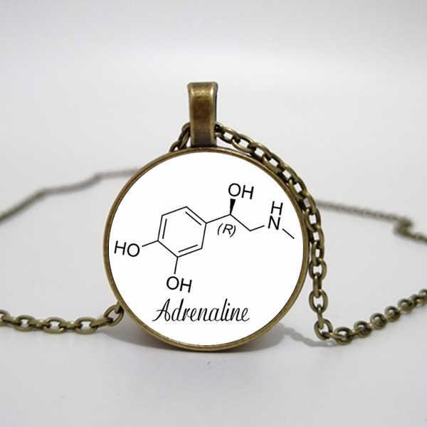 เคมีเครื่องประดับ Adrenaline สร้อยคอ Epinephrine เครื่องประดับจี้สร้อยคอชีววิทยาโมเลกุล adrenaline เครื่องประดับ