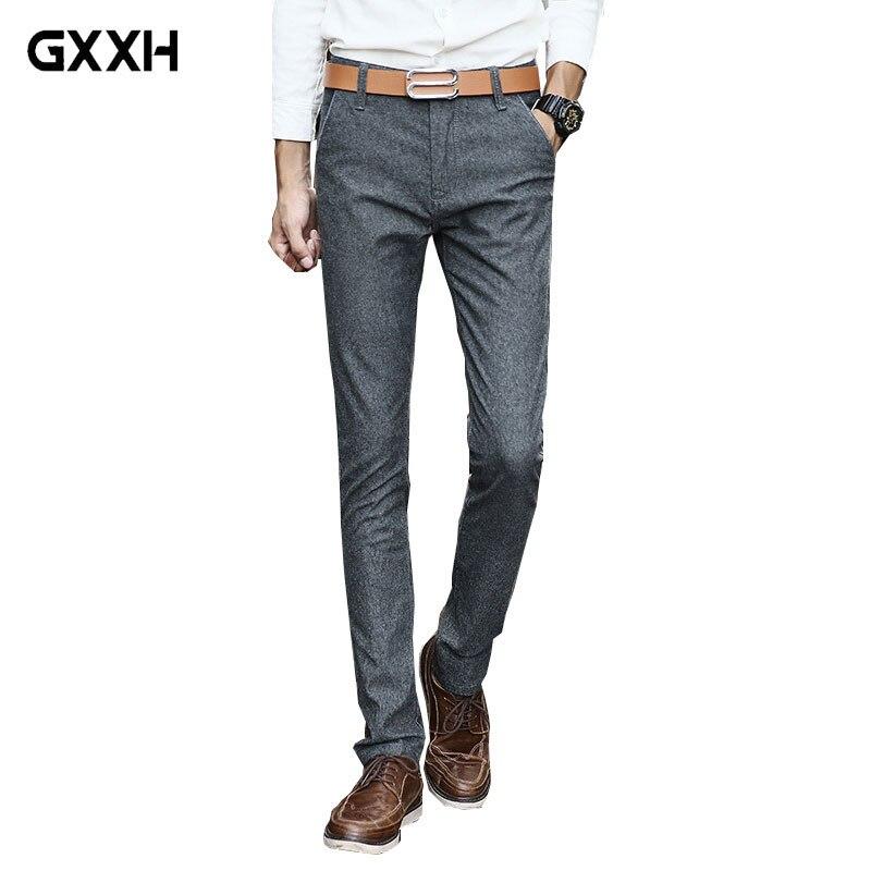 2d2355cfe5b85 2019 мужские повседневные брюки мужские весенние и летние новые тонкие  Стрейчевые повседневные брюки мужские молодежные модные