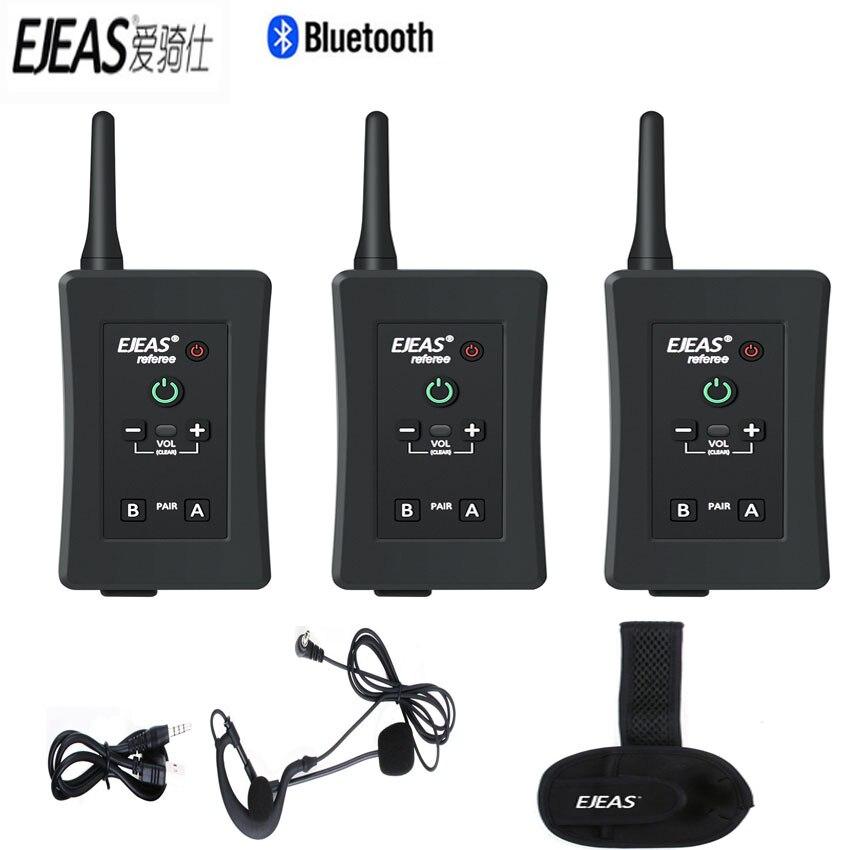 EJEAS Referee Headset Helmet Bluetooth Soccer Full-Duplex Wireless-Intercom Bt Interphone