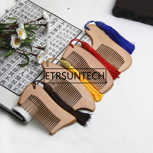 Trendy Hair Tassel Natural Peach Wood Wooden Comb Anti-Static Beard Combs Tool High Quality F1202