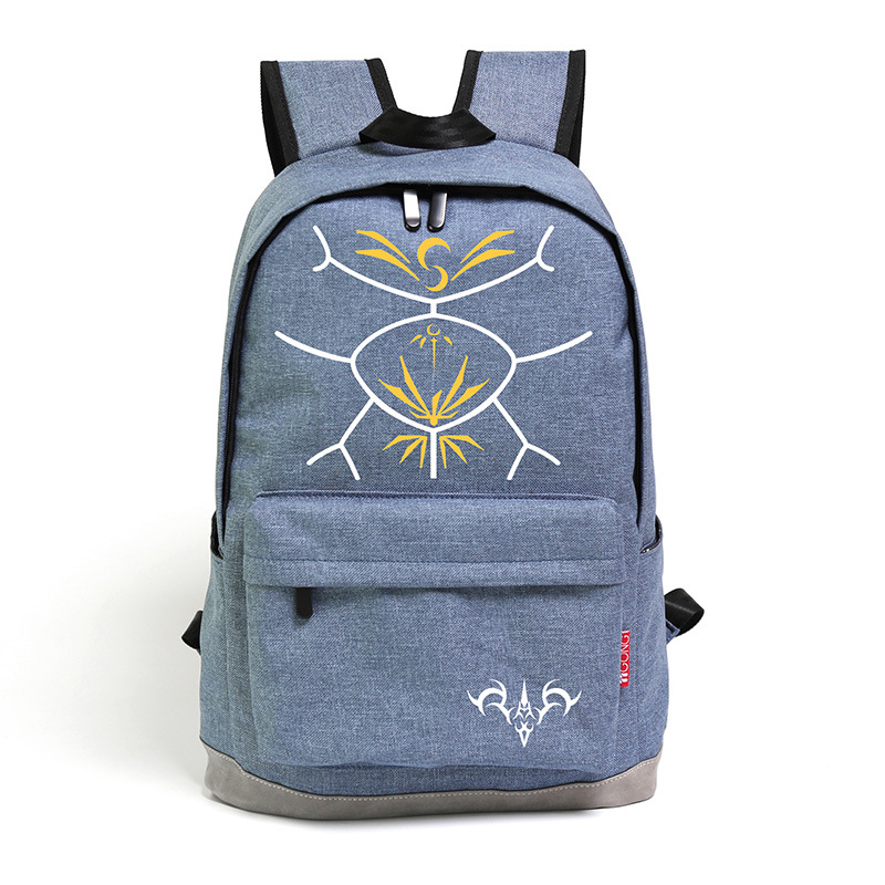37bdaef4bf Anime Fate Stay Night Saber Backpack Oxford Cosplay Rucksack Schoolbag Fate  Zero Students 15 Inch Laptop Daypack Free Shipping-in Backpacks from Luggage  ...