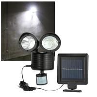22 LED Solar Lamp Solar Powered Motion Sensor PIR Security Light Garden Garage Dual Head Outdoor Lamp Energy Solar Camping Light