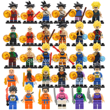 Single Sale JR265 Dragon Ball Figure Z Son Goku Vegeta Master Roshi Krillin Building Block Set Models Toys for Children(China)