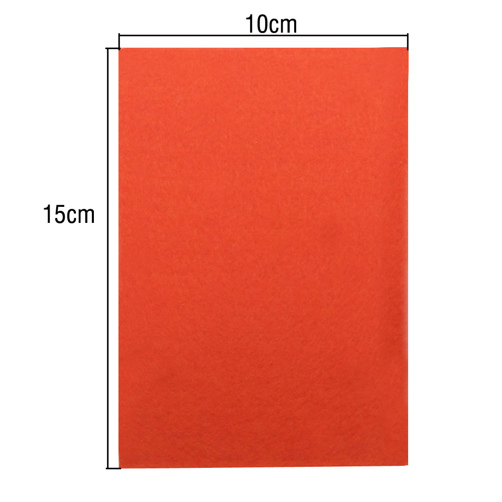 40pc 10X15cm Soft Durable Felt Fabric Square Sheet Assorted Color for DIY Craft
