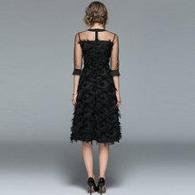 فستان سهرة أنيق بأكمام تل شفافة جديد الأزياء الكورية