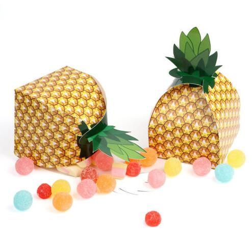 Paper Pineapple Boxes Favor Treat Candy Boxes Birthday Sweets Cake Gift Bag Hawaiian Wedding Party Beach Table Decor events-in Gift Bags & Wrapping Supplies ...