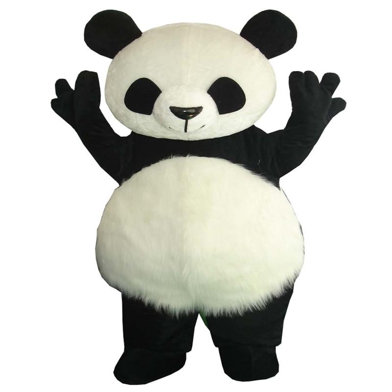 Haute qualité mignon Panda ours mascotte Costume fantaisie robe de soirée livraison gratuite