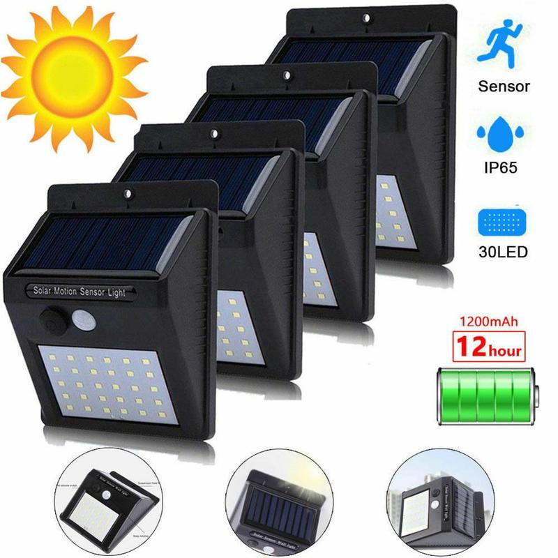 Led Solar Pir Motion Sensor Night Outdoor Safety Wall Waterproof Energy-saving Garden Solar Lights Human Induction