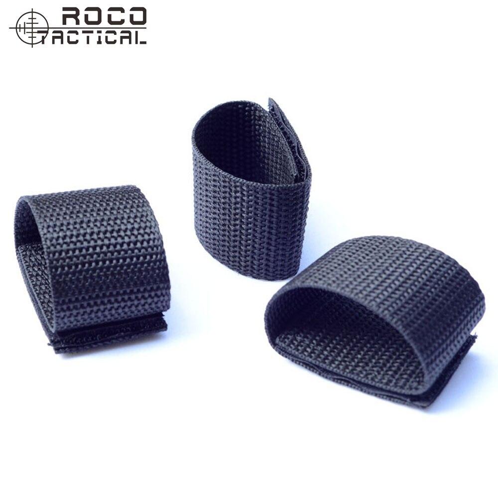 ROCOTACTICAL Double Slotted Belt Keeper Duty Nylon Police Belt Key Keeper Nylon Webbing Hook & Loop 10pcs/bag Black