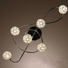 Бесплатная доставка Алюминиевый провод Бал Combo Музыкальная Нота Потолочный Светильник кристалл потолочный светильник