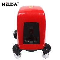 HILDA AK435 360 Degree Self Leveling Cross Laser Level 1V1H Red 2 Line 1 Point Rotary
