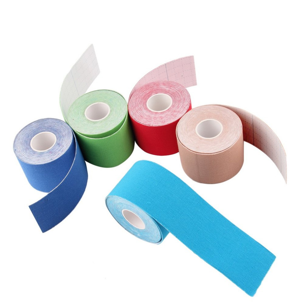 1 Roll 5cm x 5m Kinesiology Sports Elastic Tape Muscle Pain Care Therapeutic Blue Pink Green RedJIRE84