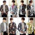 mens floral suit new Autumn 2017 male fashion blazer slim clothes man suit cute casual Blazers
