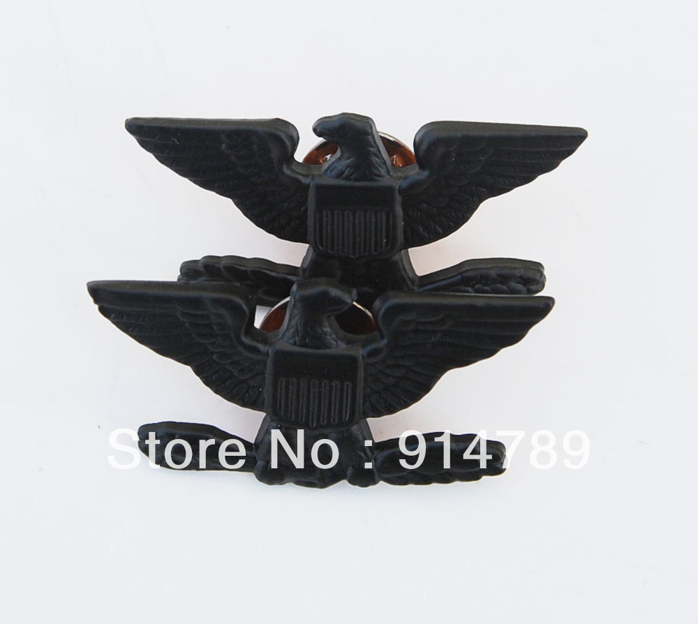 PAIR WW2 US ARMY COLONEL EAGLE WAR BIRD DEVICE PIN BADGE INSIGNIA-32779