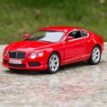 Freeshipping 1:36 Bentley Continental GT V8 Model Car 1:36 5inch Diecast Metal Cars Toy Pull Back Kids Gift