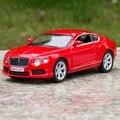 Freeshipping 1:36 Bentley Continental GT V8 Modelo de Coche 1:36 5 pulgadas Tire Hacia Atrás Diecast Metal de Coches de Juguete Para Niños de Regalo