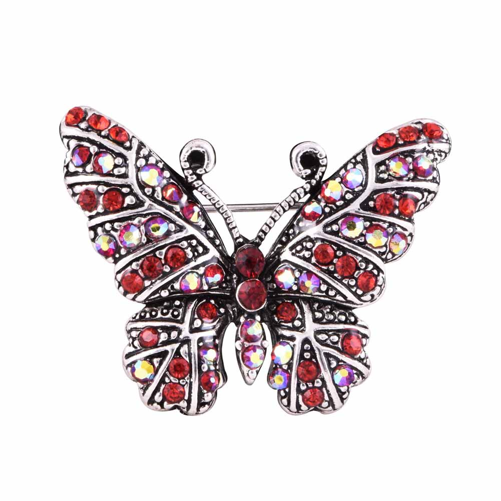 2019 Rhinestone Butterfly Brooches Pins For Women Suit Hats Clips Shiny  Lovely Animal Bijoux Brooch Bijouterie   Gift