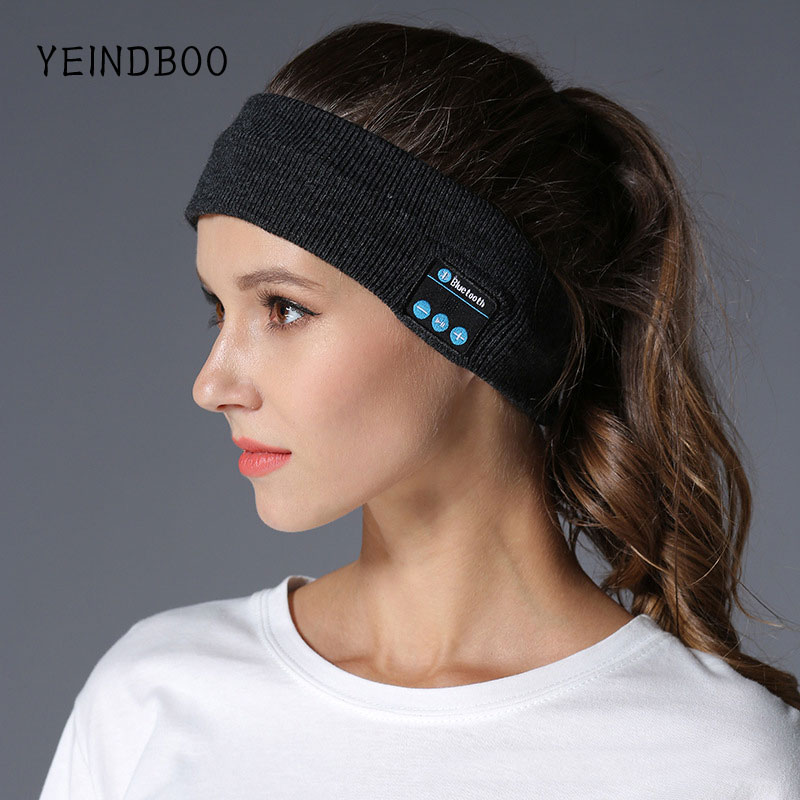 цены YEINDBOOSmart Wearable Headphone StereoMagicMusic Headband Sports Bluetooth Wireless Headset With mic Answer Call for SmartPhon