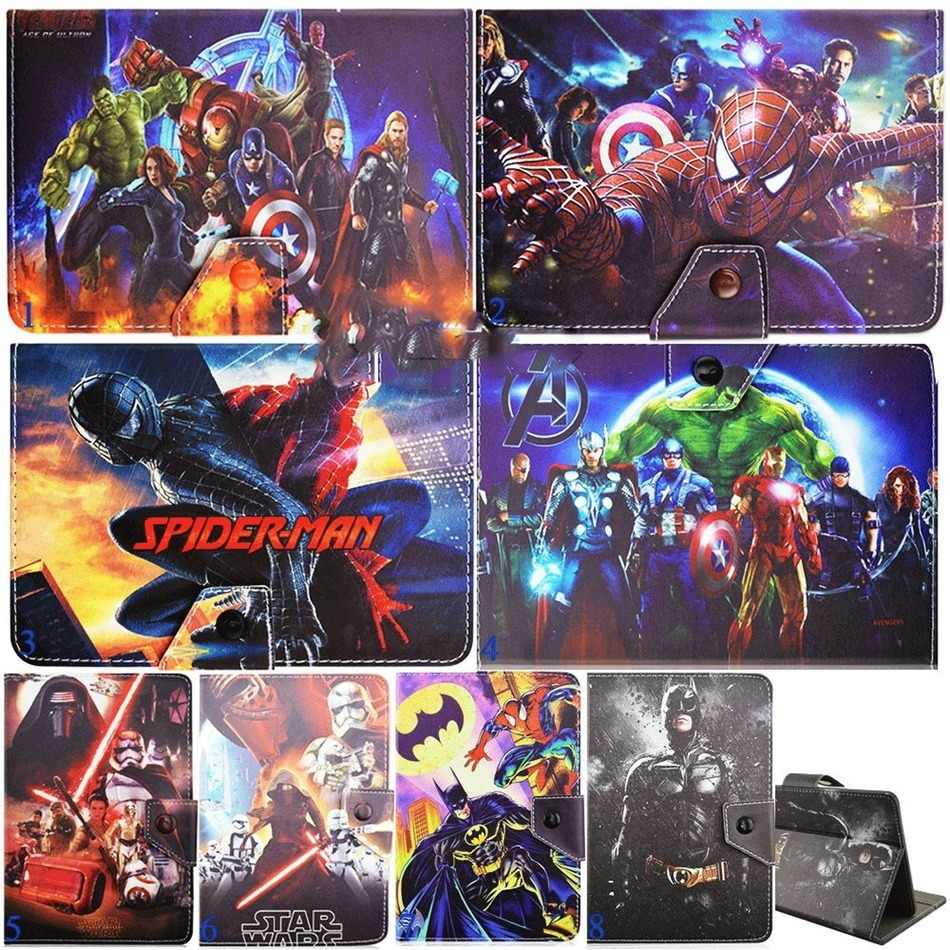 AIBOULLY The Avengers Hero Universal PU Leather Case for iClever 10.1 inch Windows 8.1 OS Tablet Stands Holder(without Keyboard)