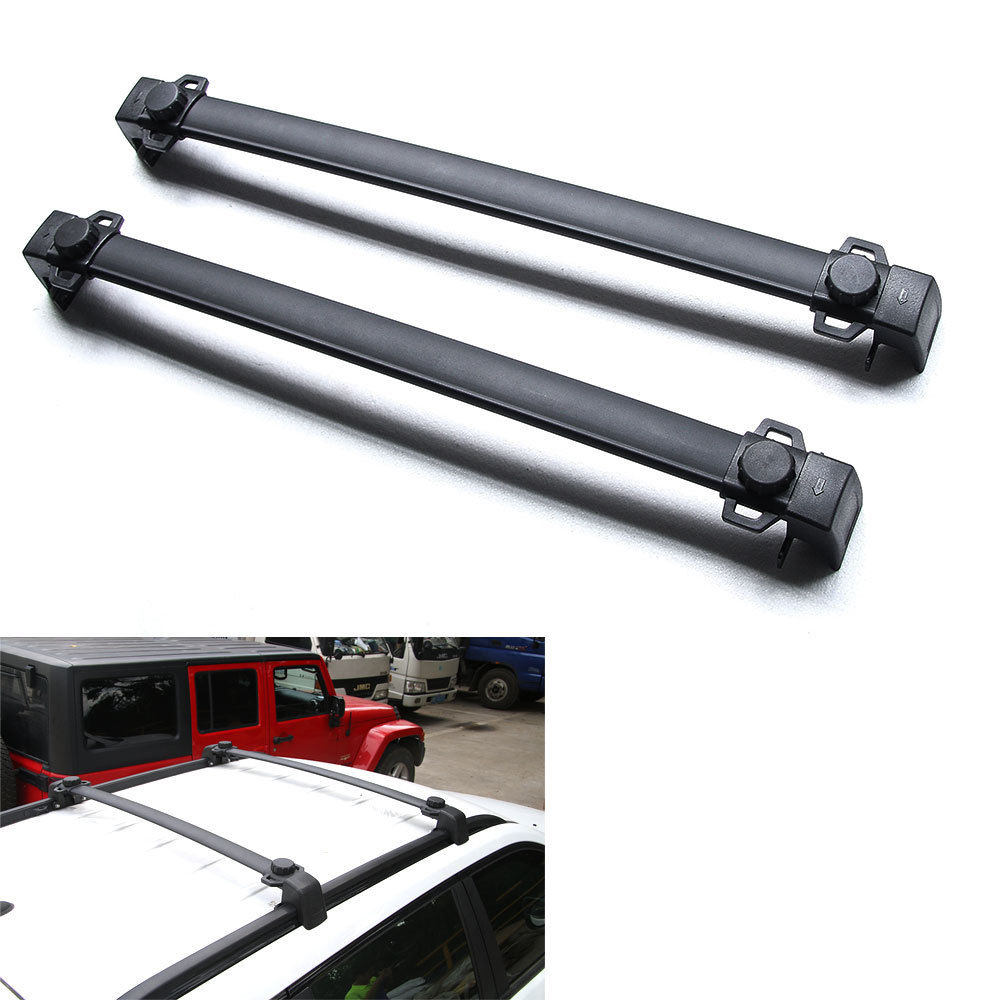BBQ@FUKA Car Roof Aluminum Baggage Luggage Rack Crossbar Overhead For Jeep Compass 2017 2pcs roof rack cross bar crossbar black abs aluminum for jeep compass 2011 2015