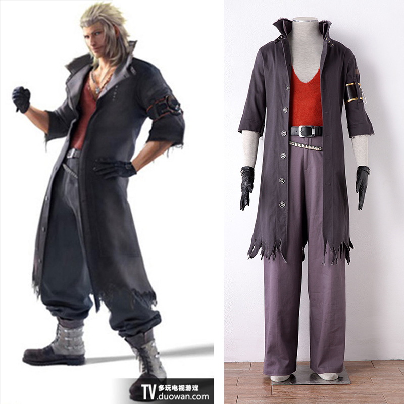 Japanese PSP Video Game Final Fantasy 13 Leader of NORA Snow Villiers Cosplay Costume Trench Set Halloween Costume For Men