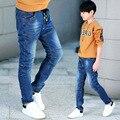 Pantalones vaqueros del niño niño pantalones de primavera y otoño Muchachos grandes niños pantalones vaqueros lavado con agua resistente al desgaste pantalones de los niños