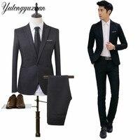 2017 Autumn Winter Men S Suits Business 2 Pieces Jackets Pants Blazer Suits Male High
