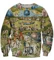 Garden Sweatshirt EUR Religion Art Painting Prints 3D Sweatshirt Men Women Long Sleeve Outerwear Crewneck Pullovers