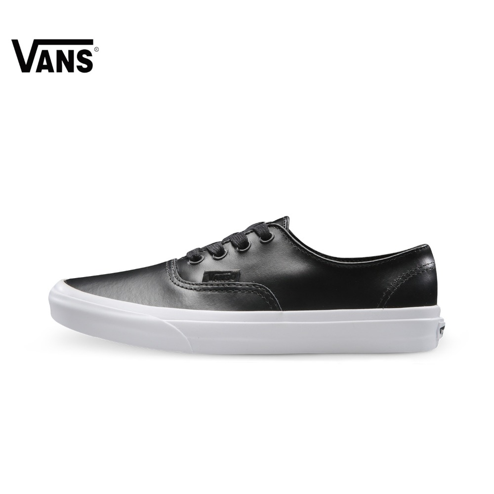 Original Vans Black and White Color Men's and Women's Unisex Light Weight Skateboarding Shoes Sport Shoes Sneakers