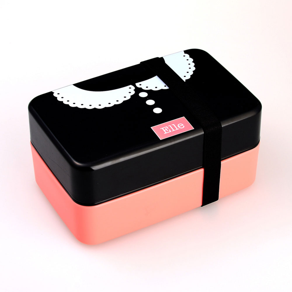 Контейнер Bento для обеда контейнеры для обедов кухонные принадлежности 730 мл двухслойный модный пластиковый Ланч Бокс портативный изолированный ланч - Цвет: 4