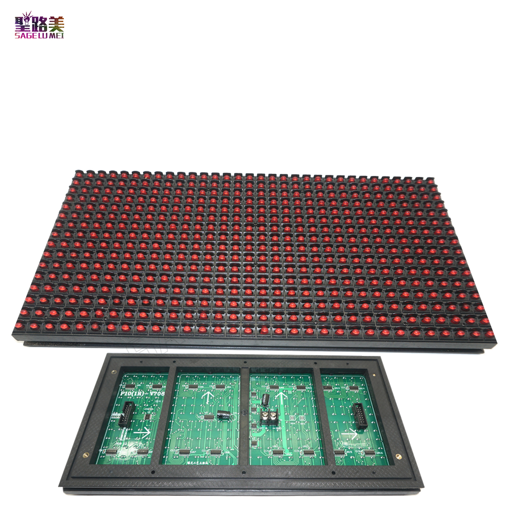 P10 LED Display Module Panel Window Sign Shop Sign out door IP65 320*160mm 32*16pixels RGB full color /single color Matrix DIY