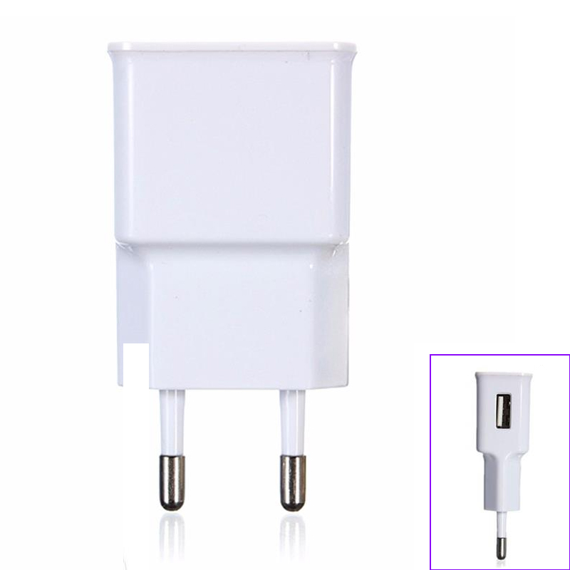 EU to USB Charger Plug 10W DC5V/2A 1 Port Portable Phone Chargers Fast USB Charging Travel Adapter For iPhone X 8 Samsung S8